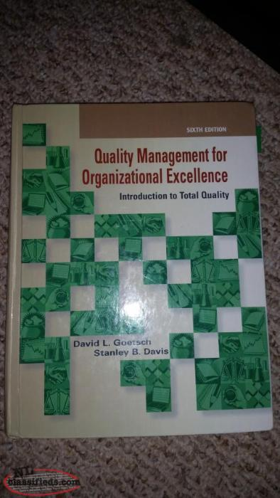 quality management for organizational excellence Coupon: rent quality management for organizational excellence introduction to total quality 8th edition (9780133791853) and save up to 80% on textbook rentals and 90% on used textbooks.