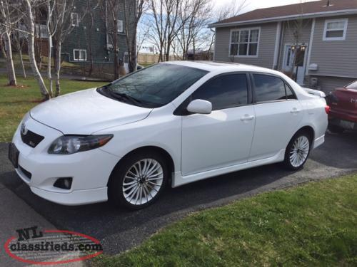 reduced 2010 toyota corolla xrs 5 speed standard st john 39 s newfoundland. Black Bedroom Furniture Sets. Home Design Ideas