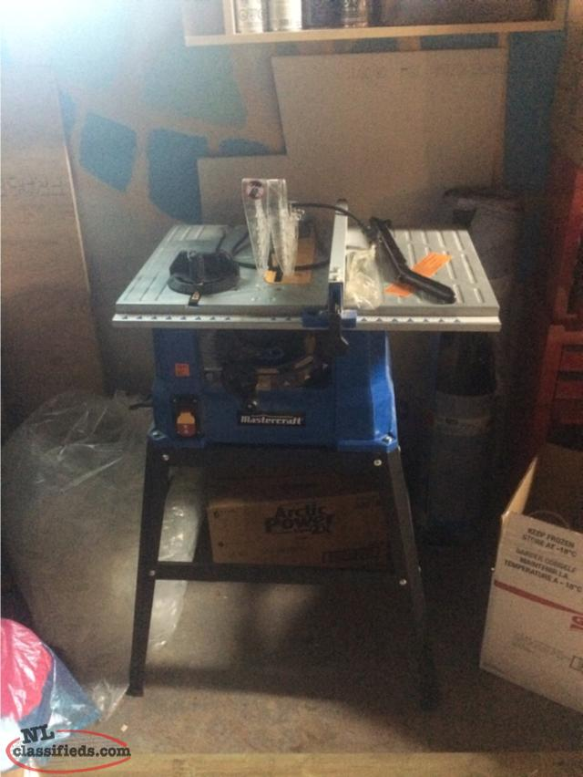Mastercraft Table Saw For Sale St Lawrence Newfoundland Labrador