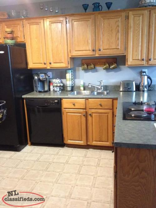 Oak cabinets conception bay south newfoundland for Kitchen cabinets nl
