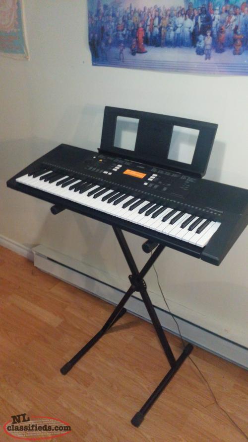 Yamaha psr e343 61 key electronic keyboard piano mount for Yamaha piano keyboard 61 key psr 180