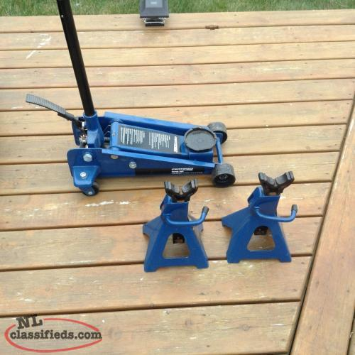 For sale 3 ton floor jack and 22 3 ton axle stands c b s for 10 ton floor jack for sale