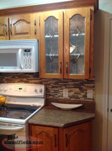 Oak kitchen cabinets st john 39 s newfoundland for Kitchen cabinets nl