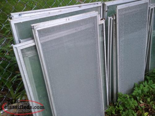 Approx 20 aluminum storm windows and frames st john 39 s for Aluminum storm windows
