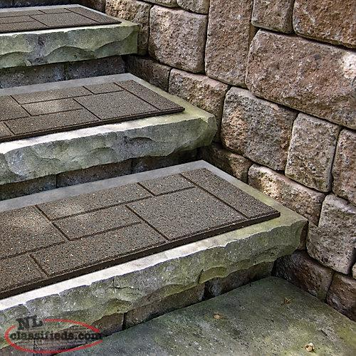 Patio Stone Home Depot Canada: 90-COBBLESTONE ENVIRO RUBBER STAIR STREDS.