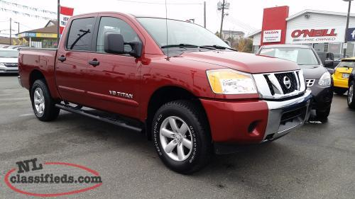 nissan certified pre owned 2014 nissan titan sv crew 4x4 with 45 000kms mount pearl. Black Bedroom Furniture Sets. Home Design Ideas
