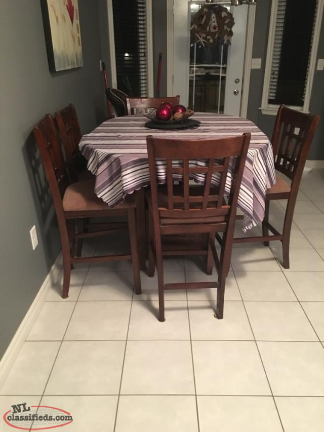 pub style table 6 chairs goulds newfoundland