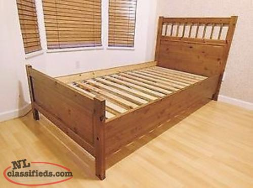 Ikea hemnes solid wood twin bed mattress paradise for Twin bed connector ikea