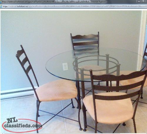 Kitchen table and 4 chairs for sale St John s Newfoundland