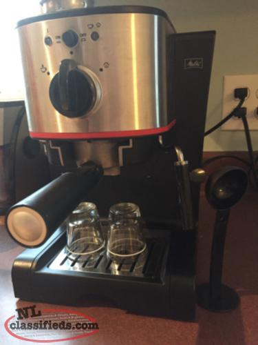 espresso machine with steam wand