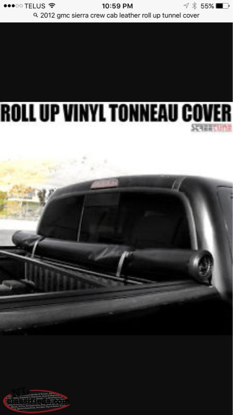 gmc sierra tunnel cover leather roll up cbs newfoundland. Black Bedroom Furniture Sets. Home Design Ideas