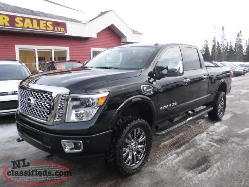 2016 nissan titan xd crew cab platinum reserve cummins diesel gander newfoundland. Black Bedroom Furniture Sets. Home Design Ideas