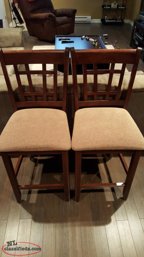 Two brown wooden bar stools Torbay Newfoundland  : 14844899650892159451resized from www.nlclassifieds.com size 500 x 889 jpeg 61kB