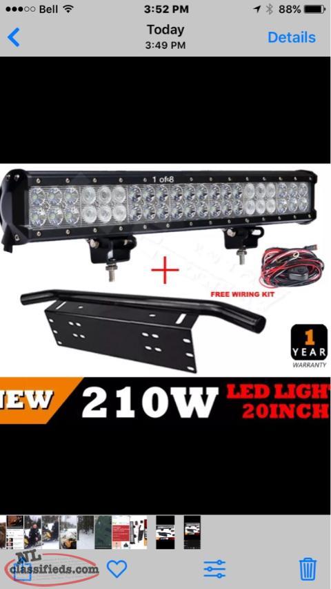 20 Inch Lightbar With License Plate Bracket Bay Roberts