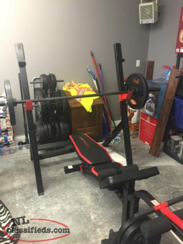 Olympic Bar Weights And Bench For Sale Gambo South Newfoundland
