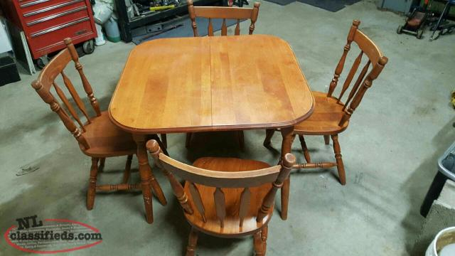 FOR SALE Oak Kitchen table and 4 chairs Bishops Falls