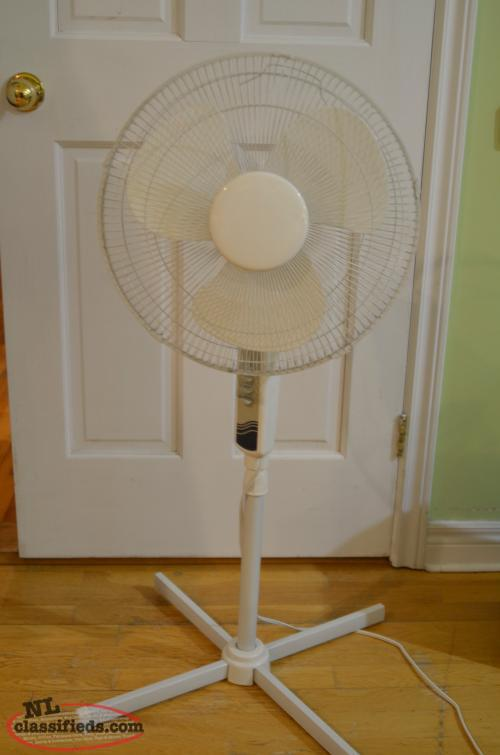 White Stand Up Fans : Standard white stand up floor fan st john s newfoundland