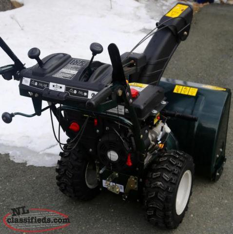 yardworks electric snow blower manual