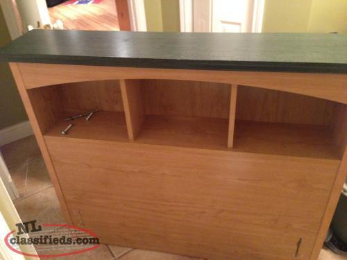 Twin headboard and matching nightstand tilton newfoundland for Headboard dresser and nightstand set