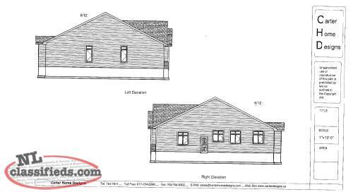 Custom design house plans sandy point norris arm for Nl house plans
