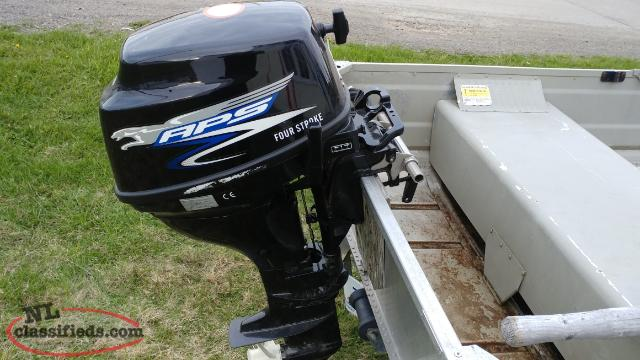 12 Foot Aluminum Boat On Trailer With 9 8 Hp Aps 4 Stroke