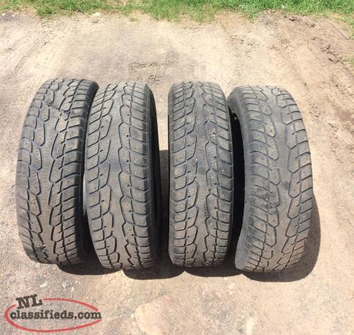 4 studded tires for sale leading tickles newfoundland labrador. Black Bedroom Furniture Sets. Home Design Ideas