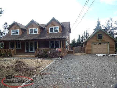 Log chalet style home with full basement to develop for Chalet style homes for sale