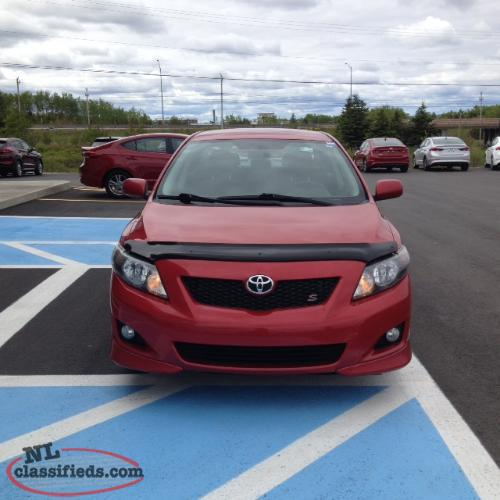 2010 Toyota Corolla Sport Automatic Grand Falls Windsor
