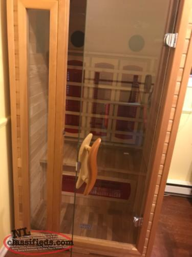 reduced heilsa infrared sauna 1 2 person st john 39 s. Black Bedroom Furniture Sets. Home Design Ideas