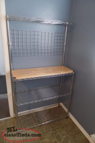 Stainless steel bakers rack with hooks st john s
