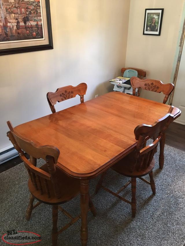 Dining Room Table And Buffet Hutch Set Conception Bay