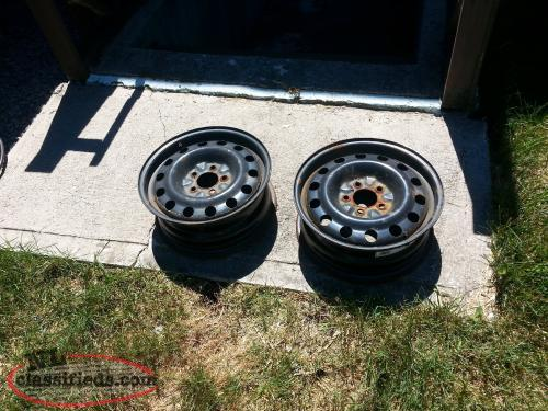 2 16 inch chev rims 5 hole for sale for the pair st johns newfoundland labrador. Black Bedroom Furniture Sets. Home Design Ideas