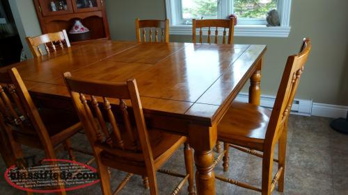 dining room table and chairs pub style conception bay