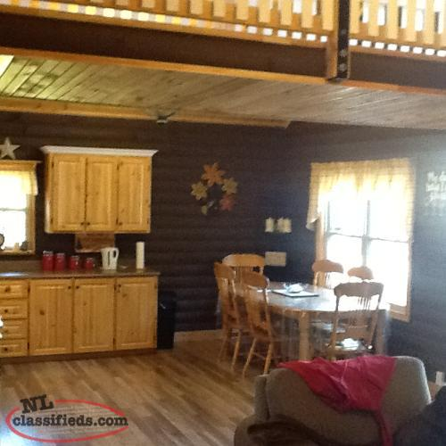 Log cabin for sale thorburn lake whitbourne for Authentic log cabins for sale