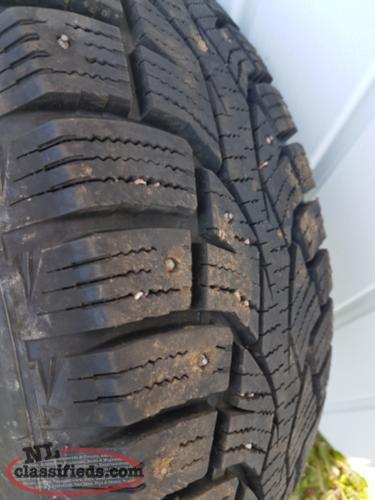 4 studded winter tires like new newfoundland labrador nl classifieds. Black Bedroom Furniture Sets. Home Design Ideas