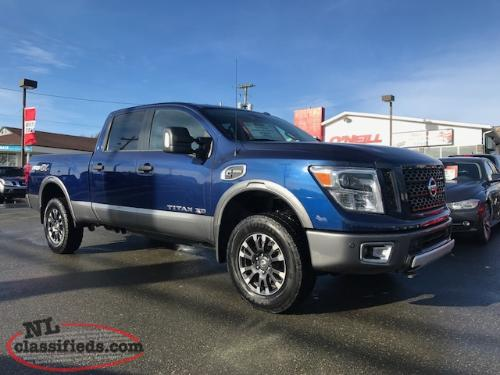 2017 nissan titan xd pro4x with 20 000kms cummins diesel mount pearl newfoundland labrador. Black Bedroom Furniture Sets. Home Design Ideas