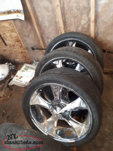 24 inch rims for sale grandfalls windsor newfoundland. Black Bedroom Furniture Sets. Home Design Ideas