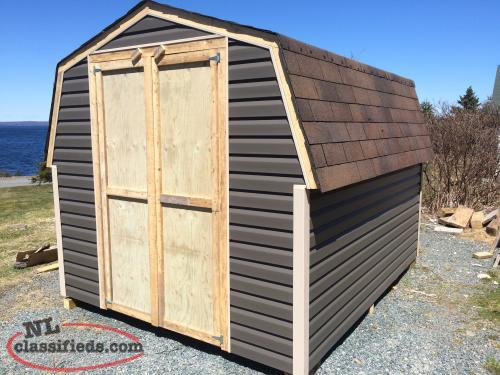 8 x 10 baby barns and sheds built on site st john 39 s for Garden sheds built on site