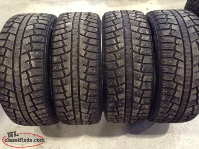 p235  55r17 minerva eco stud suv studded snow tires