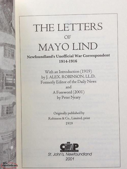 WWI Letters of Mayo Lind - Gander, Newfoundland Labrador   NL Classifieds